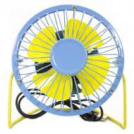 Портативный мини-вентилятор Fan Mini Sanhuai A18 Blue + Yellow настольный USB (3175-9868)