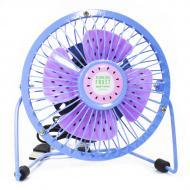 Портативный мини-вентилятор Fan Mini Sanhuai A18 Blue + Purple настольный USB (3175-9867)