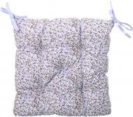 Подушка на стілець Квіти лаванда 40x40 см Прованс Классик