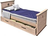 Ліжко Aqua Rodos Skipper SkBed-120 120x200 см дуб небраска