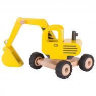 Машинка деревянная goki Экскаватор желтый 55898G