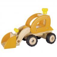 Машинка деревянная goki Экскаватор желтый 55962G
