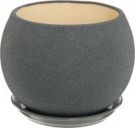 Горшок керамический Ориана-Запорожкерамика Шар шелк металлик круглый 9л серый (037-0-129)