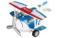 Самолет металический инерционный SAME TOY Aircraft синий SY8013AUt-2