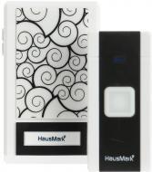 Дзвінок бездротовий HausMark білий із чорним WSD-8528-BK7