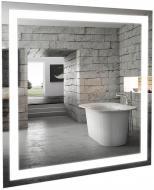 Зеркало Aqua Rodos с LED-подсветкой Альфа 80х80 см