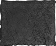 Блюдо прямокутне Lavastone Black 25x20x1,3 см