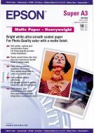 Фотопапір Epson  A3+ Matte Paper-Heavyweight 50 арк. C13S041264 C13S041264