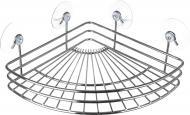 Полиця кутова Lemax кутова EBA-10740 на присосках для ванної кімнати 270х203х79 мм