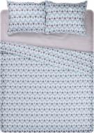 Комплект постельного белья Болония 2.0 голубой с белым UP! (Underprice)