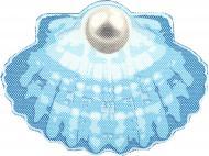Килимок для ванної Woko Ракушка блакитний 65х47 см