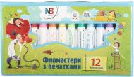 Фломастери з печаткою 12 шт. 158-12 Nota Bene