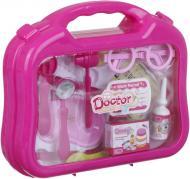 Игровой набор доктора в чемодане 12 предметов розовый 660-13