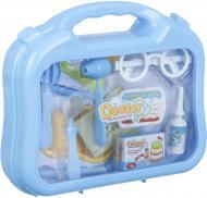 Игровой набор доктора в чемодане 12 предметов голубой 660-14