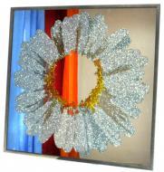 Дзеркало декоративне SEAPS Chamomile Glitter Silver 92х92х4 см №3381