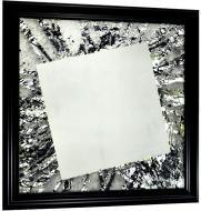 Зеркало авторское SEAPS Black Frost Mirranizm 68х68х3 см №6170
