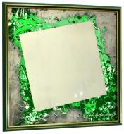 Зеркало авторское SEAPS Green 57 Degrees Mirranizm 68х68х3 см №61663