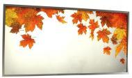 Зеркало SEAPS Leaves Осенние листья 122х62х3 см №3406