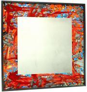 Зеркало-картина SEAPS Red Planet Mirranizm 93х93х3 см №6190