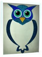 Зеркало детское SEAPS Blue Owl Crystal 66х76х3 см №3411