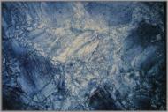 Коврик Cleopatra for Trading and International Marketing Print Digital синий мрамор 100x150 см