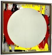 Зеркало авторское SEAPS Yellow Circle Mirranizm 68х68х3 см №6173