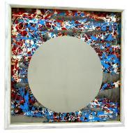 Зеркало-картина SEAPS Electro Moon 68х68х3 см №6179