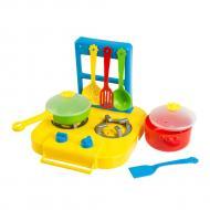Набор посуды столовый Tigres Ромашка с плитой 7 элементов (39150)