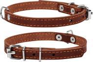 Нашийник Collar одинарний 1х22-30 см коричневий