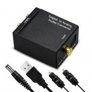Конвертер звука оптический Digital to analog Audio цифровой в аналоговый (RI0706)
