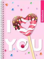 Блокнот ST. Valentine: I Love You А5 80 арк. клітинка E21951-04 Фабрика Папірус