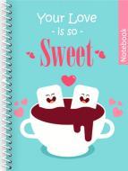Блокнот ST. Valentine: Sweet А5 80 арк. клітинка E21951-06 Фабрика Папірус