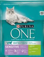 Корм Purina One Sensitive с индейкой и рисом 800 г