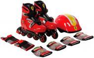 Роликовые коньки Ferrari набор детский FK7-1 р. 33-36 красный
