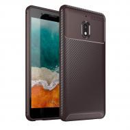 Чехол Carbon Case Nokia 2.1 Коричневый (hub_RoFI61739)