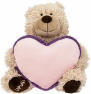 М'яка іграшка Lapulli Ведмедик із серцем 30 см 015SBX095