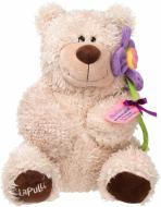 М'яка іграшка Lapulli Ведмедик із квіткою 40 см 015SBX097