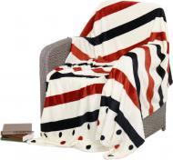 Плед Frannel Stripe and dot 160x200 см разноцветный La Nuit
