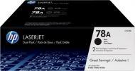Картридж HP 78A Dual pack Black CE278AF чорний