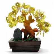 Дерево Kanishka с монетами 17х16.5х7.5 см Желтое с коричневым (DN22852)