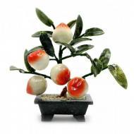 Персик Kanishka 23х24х13 см Оранжевый с зеленым и белым (21165)