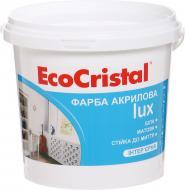 Краска латексная водоэмульсионная EcoCristal EcoCristal Люкс ИР-233 мат белый 1л