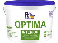 Фарба латексна водоемульсійна FT Professional Optima Interior Base A глибокий мат білий 10л