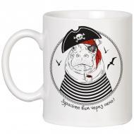 Чашка с бегемотом Здрасьте вам через окно HMD (88-8718158)