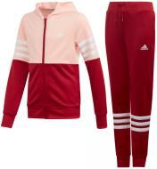 Спортивний костюм Adidas YG HOOD PES TS ED4639 р. 128 червоно-рожевий