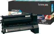Картридж Lexmark Cyan C7720CX блакитний