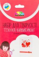 Набір, кардмейкінг листівка «Червоні серця» Роса
