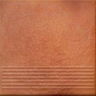 Клінкерна плитка Солар Оранж сходинка структурна 30x30 Opoczno