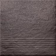 Клінкерна плитка Солар Графіт сходинка структурна 30x30 Opoczno