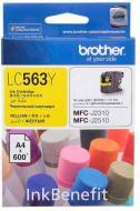 Картридж Brother MFC-J2310/J3520 yellow LC563Y yellow